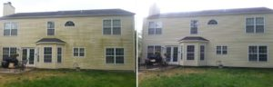 Before and After House Washing in Virginia Beach, Virginia by SoftWash Pros