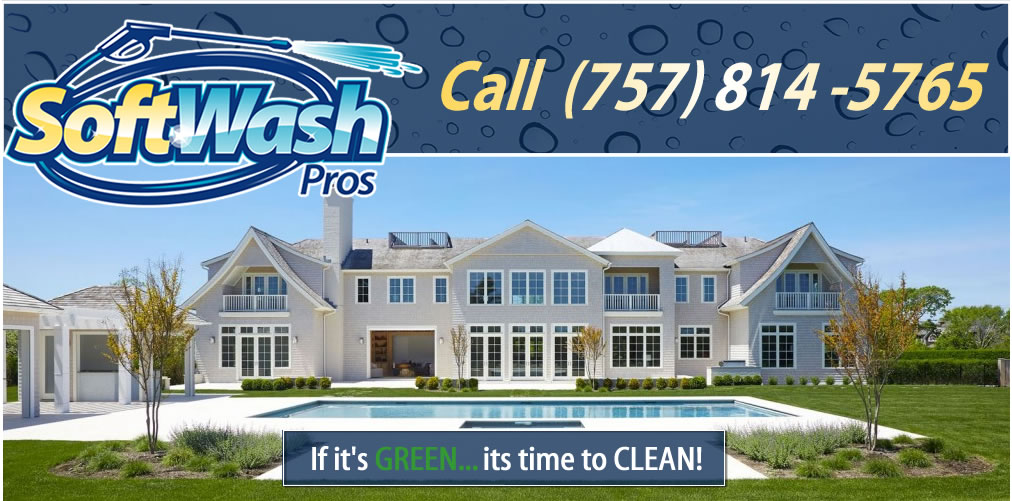 Pressure Washing, Roof Cleaning, House Washing and More in Virginia Beach, Virginia by SoftWash Pros